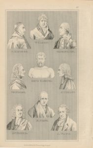 16 Antique Engraving Prints, Portraits, 1830 ca.