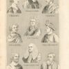 Antique Engraving Prints, Portraits, 1830 ca.