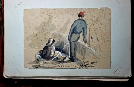 Vintage sketchbook with Watercolours and notes 1903-1913