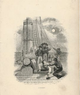 Antique Engraving Print, A surprise, 1840