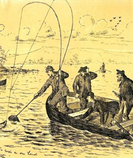 Antique Print, Fishermen, 1880 ca.