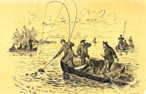 Antique Print, Fishermen, 1880 ca.