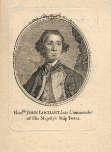 Antique Engraving Print, Hon.ble John Lochart late Commander of His Majesty's Ship Tartar, 1770