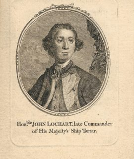 Antique Engraving Print, Hon.ble John Lochart late Commander of His Majesty's Ship Tartar, 1770