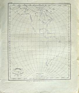 Antique Map, Amérique, Achille Meissas et Michelot, 1859