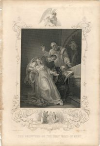 Antique Engraving Print, The Imposture of the Holy Maid of Kent, 1830