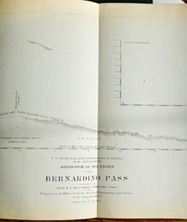 Antique Geological Section of the Bernardino Pass, San Bernardino to the Colorado Desert,