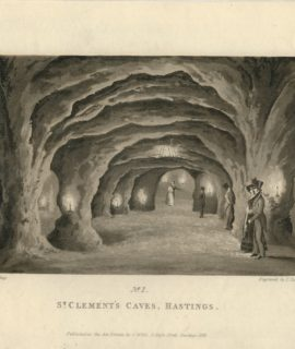 Antique Engraving Print, St. Clement's Caves, Hastings, 1826
