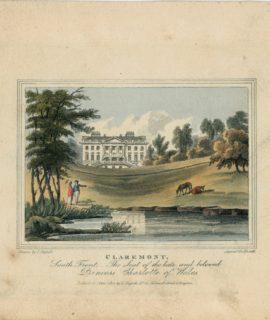 Antique Engraving Print, Claremont, 1817