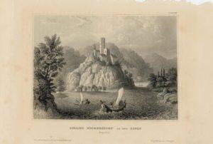 Antique Engraving Print, Schloss Heckersdorf and Der Donau, 1840