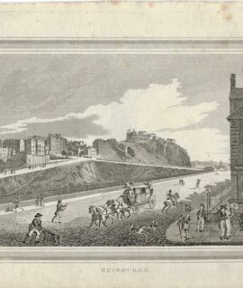 Antique Engraving Print, Edinburgh, 1817