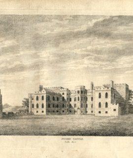 Antique Engraving Print, Foord Castle, 1779