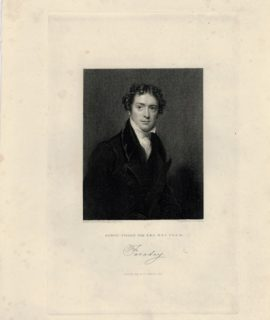 Antique Engraving Print, Michael Faraday, Fisher, Son & Co., London, 1844