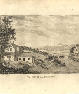 Antique Engraving Print, The Forge near Ford Castle, 1779