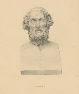Antique Print, Homer, 1880