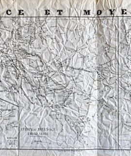 Antique Map, France et Moyen-Âge, 1860 ca.