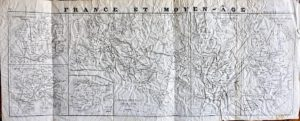 Antique Map, France et Moyen-Âge, 1860 ca.