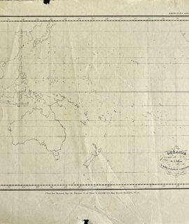 Antique Map, Océanie, Achille Meissas et Michelot, 1843