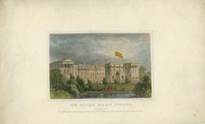 Antique Engraving Print, The Queen's Palace, Pimlico, 1841