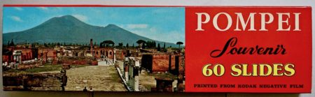 Vintage Pompei Souvenir 60 Slides, printed from Kodak negative film