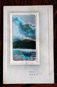 The Dawn, Antique Real Photo Postcard, Davidson, 1905