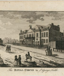 Antique Engraving Print, The Royal Circus in St. Georges Fields, 1790