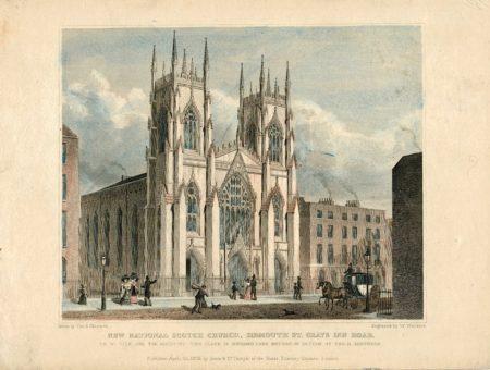 New National Scotch Church, Sidmouth St. Grays Inn Road, 1829