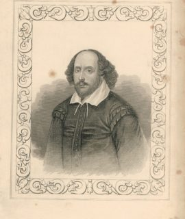 Antique Engraving Print, Shakespeare, London, Tallis, 1830 ca.
