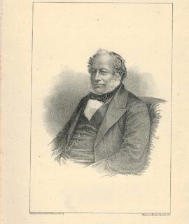 Antique Print, Sir Charles Barry, 1870 ca.