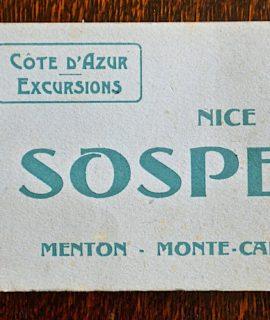 Nice, Sospel, Menton, Monte-Carlo, 1910-20