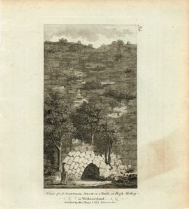 View of a Natural Arch in a Rock, at Hight Methop in Westmoreland, 1790 ca.