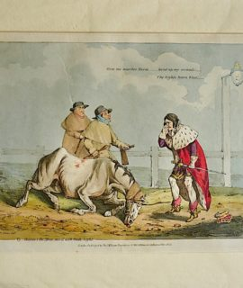Henry Alken Antique Engraving (copper), hand coloured, 1823