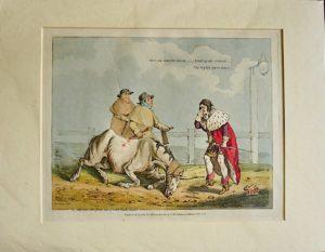 Henry Alken Antique Engraving (copper), hand coloured, 1823