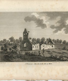 Antique Engraving Print, St. Trinion's Church, in the Isle of Man, 1785