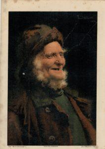 Antique Print, A Jolly Old Tar, 1890