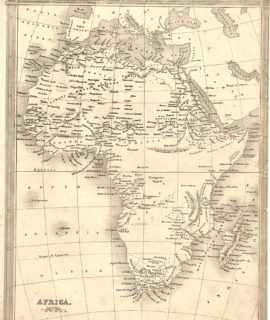 Antique Map, Africa, 1860