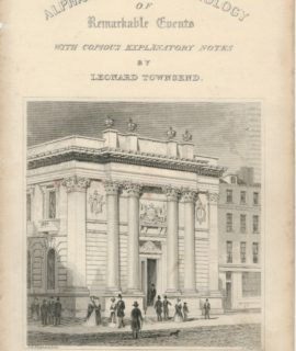 Antique Engraving Frontispiece, The New Gresham College, Tallis, 1830