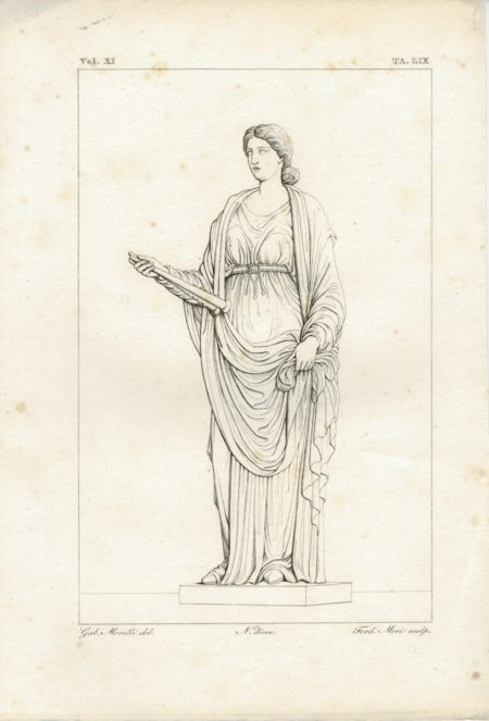 Antique Engraving Print, Ferd. Mori, 1835