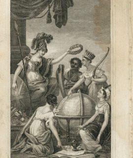 Antique Engraving Print, Frontispiece, 1820 ca.