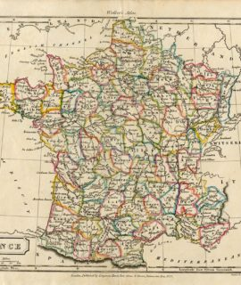 Antique Map, France, 1823