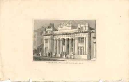 Antique Engraving Print, Corn Exchange Mark Lane, London, 1838