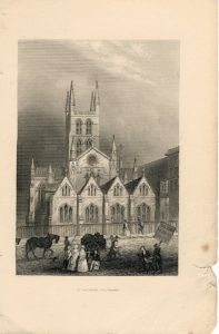 Antique Engraving Print, St. Saviour's Church, Surrey, 1815