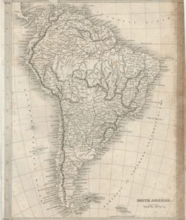 Antique Map, South America, 1860 ca.