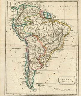 Rare Antique Map, South America, 1823