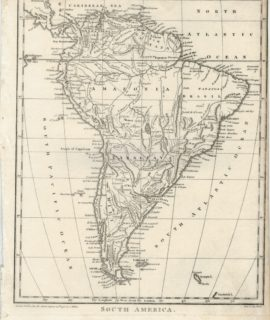 Antique Map, South America, 1796