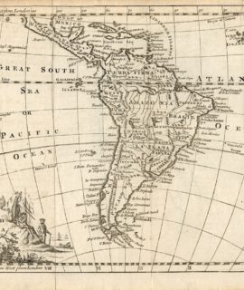 Antique Print, South America,Thomas Jefferys, 1756