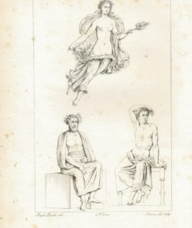 Antique Engraving Print, Pacileo del. Lasinio sculp., 1835