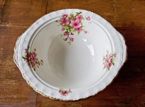 Vintage Creampetal Grindley England Serving Vegetable Bowl, 1950