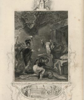 The massacre of the Druids, 1860 ca.