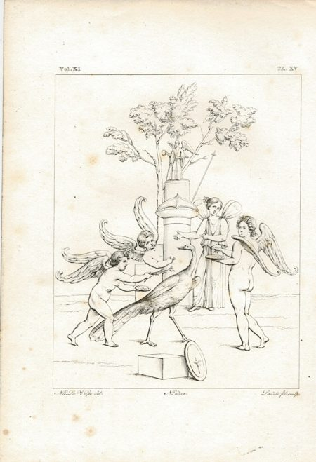 Antique Engraving Print, Lasinio, TA. XV, 1835